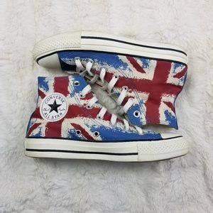 Converse High Top Shoes Union Jack